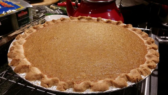 Baked, finished pie.
