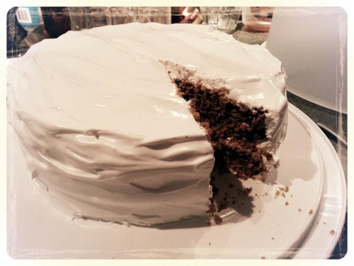 My first try at Molasses Layer Cake.