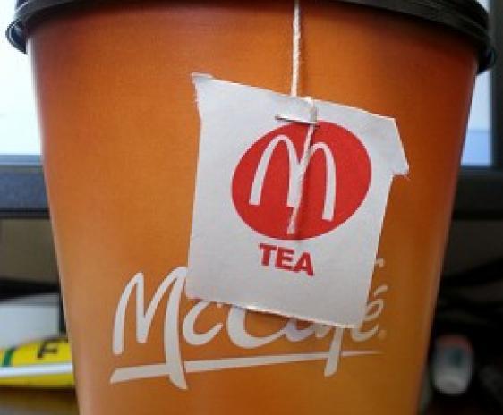 Photo of McDonald's cup of hot tea.